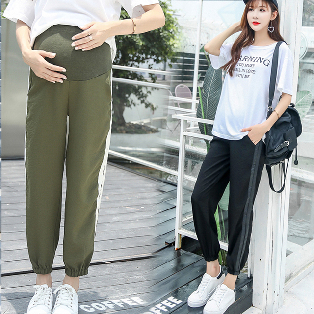 0046c3ebb722ef Fashion Maternity Clothes 2018 Summer Pants For Pregnant Women Pregnancy  Clothing Loose Maternity Pregnancy Belly Capris