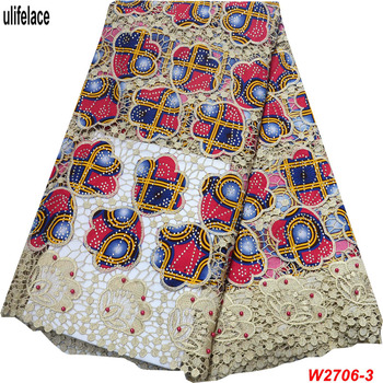 African Water soluble Guipure lace fabric 2019 Embroidery Ankara wax Fabric pattern for Nigerian Lace fabrics Women dress W2-706