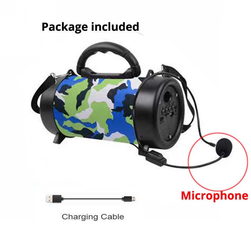 Portable Speaker Nirkabel Bluetooth Speaker HI FI Soundbar dengan Subwoofer Outdoor Loudspeaker dengan Mikrofon FM Radio BOOMBOX