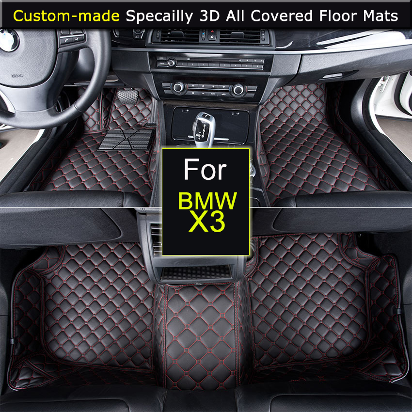 Car Floor mats for BMW X3 2004~2010 X3 2011~ Car styling Foot Rugs Carpets 3D All covered Waterproof Black Brown Beige