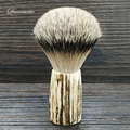 DS 22mm natural buckborn handle Highmountain Silvertip Badger Hair knot Shaving Brush