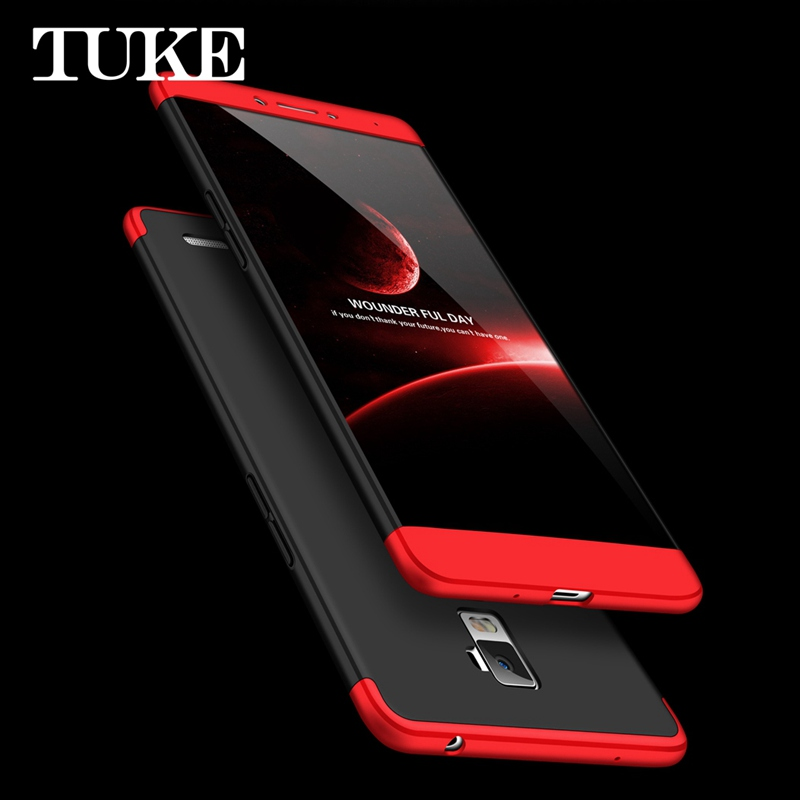 TUKE Case for OPPO R7 Plus R11 R9S R7S A77 R15 F7 F5 A83 A79 A59 A57 360 Degree Full Body Protection Plastic Hard PC Cover image
