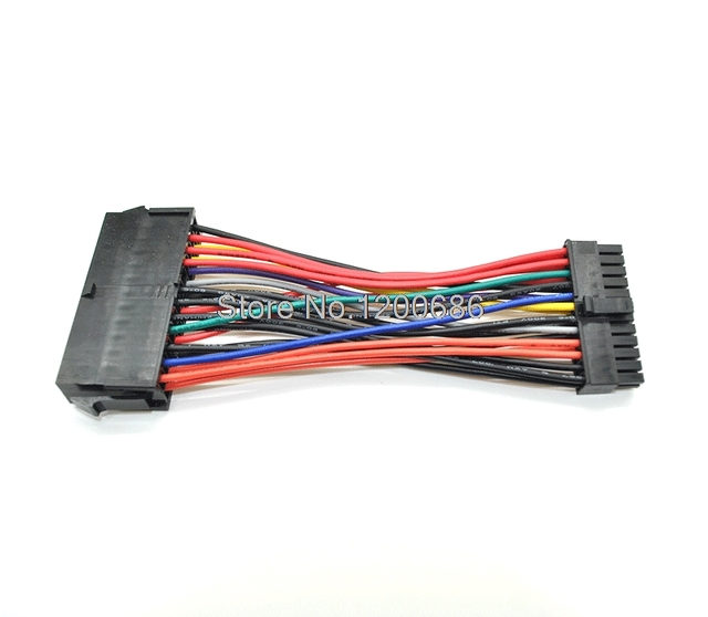 US $3 5 |10CM ATX Power Supply Motherboard 24 Pin to Mini 24 Pin Cable  wiring harness for Dell Optiplex 380, 580, 760, 780,-in Wiring Harness from