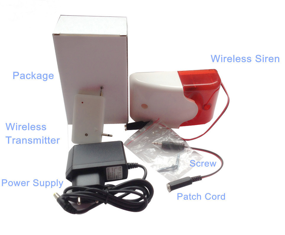 315Mhz wireless alarm Flash Light GSM Strobe Siren+12v AC to DC adaptor for alarm systems security home SR-60A цена и фото