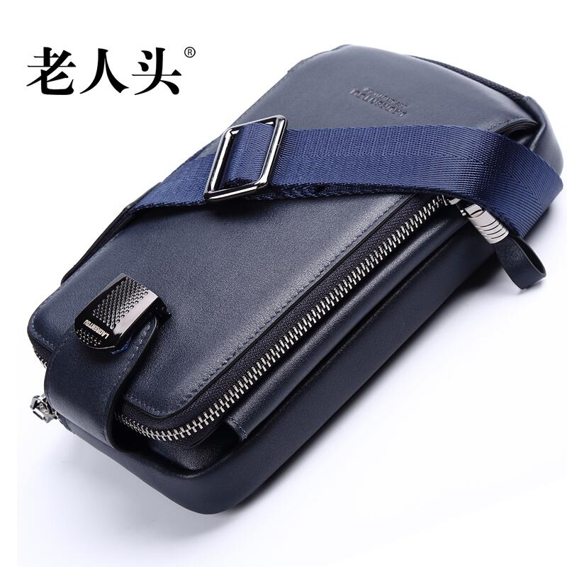LAORENTOU high-quality fashion luxury brand 2017 new men's handbag shoulder bag genuine authentic, well-known brands brand new original authentic brs15b