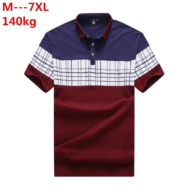 10XL 8XL 6XL 5XL 4X Polo hommes lâche hommes Polo décontracté lettre broderie polos chemises Outwear