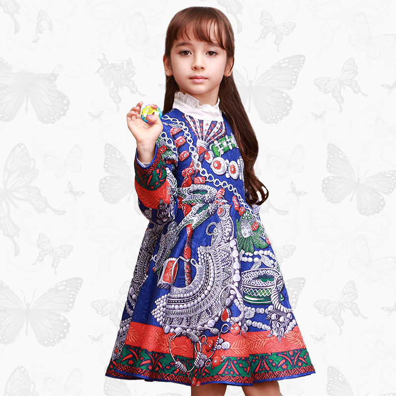 Toddler Girls Dresses Children Clothing 2017 Brand Princess Dress for Girls Clothes Fish Print Kids Beading Dress FANAIDENG 31 toddler girls dresses children clothing 2017 brand princess dress for girls clothes fish print kids beading dress fanaideng 50