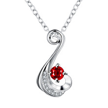 Fashion Ruby Sapphire Amethyst And CZ Diamond Wedding Women Jewelry Romantic Bridal Beautiful Music Note Necklaces & Pendants