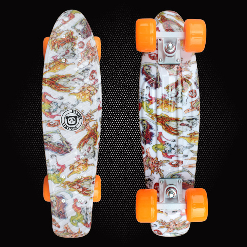 2018 High quality Skate Board 22 Lightweight Complete Durable Plastic Skateboard for Boy Girl Outdoor Activities 11 Styles PD02