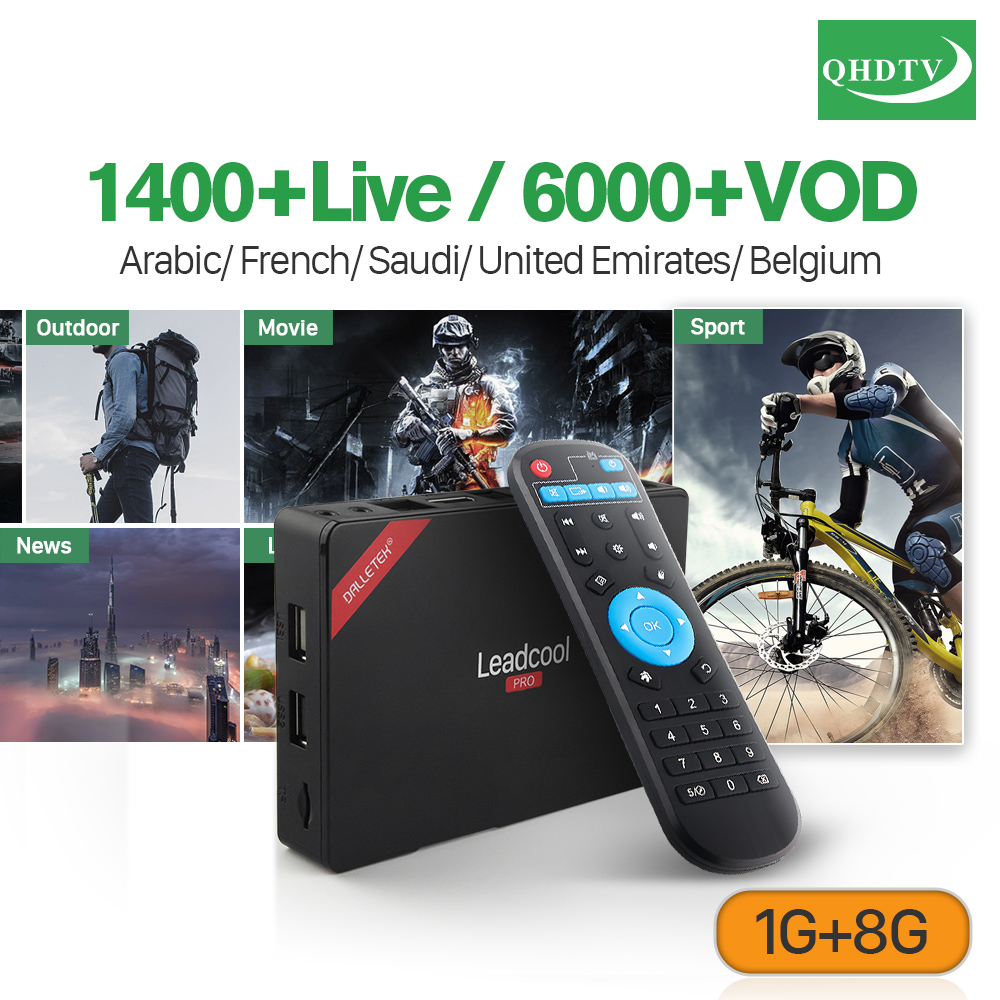 Leadcool Pro Android 7.1 TV Box IPTV 1 Year QHDTV IPTV Subscription IPTV France Arabic Belgium Morocco Holland Europe IP TV iptv subscription qhdtv pro 1 year android 7 1 2g 16g s905w tv receivers a95x r2 iptv france belgium dutch arabic europe ip tv