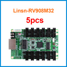 Led with Ts802d Ts921 Sending-Card Linsn Work 5pcs/Lot Screen-Module Rv908m32-Support
