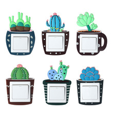 Cute Cartoon 3D Cactus Fluorescent Wall Silicone Light Switch Sticker Kids Luminous Cover Home Decorations