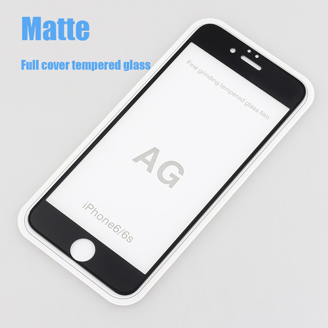finest selection a1d4a 3a680 US $3.29 |9H Full Cover Frosted Tempered Glass Screen Protector For iPhone  7 6 6s plus Glare Finger print Matte Screen protection film -in Phone ...