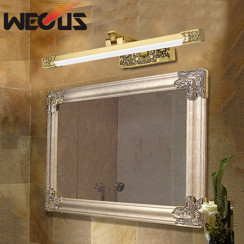 High grade american led mirror light hotel bathroom cabinet lamp anti-fog bronze painting lamp 425mm 8W 40cm 12w acryl aluminum led wall lamp mirror light for bathroom aisle living room waterproof anti fog mirror lamps 2131