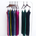 Vogue Spaghetti Strap Velvet Dress  V Neck Sleeveless Party Club Sexy Dress  Summer Long Maxi Women Bodycon Dress APZZ1701