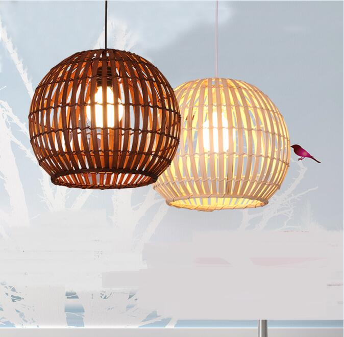 Restaurant Hotel Pendant Lights Les Granges balcony bamboo lantern light bamboo corridor in Southeast lamps LU71475 YM bamboo bedroom pendant lights balcony