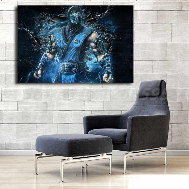 مورتال كومبات لعبة الفرعية صفر مقاتلة HD قماش الملصقات يطبع جدار الفن اللوحة الزخرفية صورة ديكور المنزل الحديث الفني