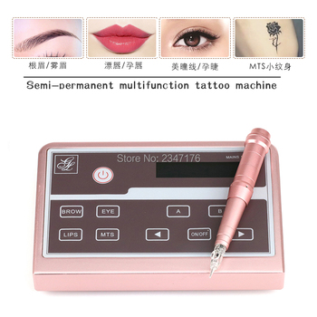 Micro pigmentation Device For Permanent Makeup Machine With Digital Control Panel Swiss motor rotary Tattoo machine kit