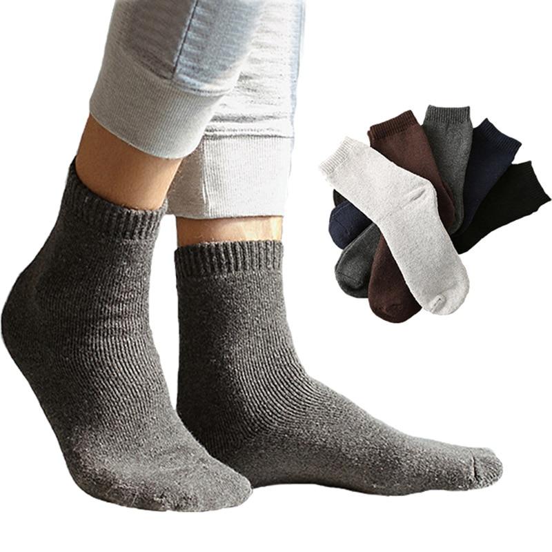 Mens Fashion Velvet Casual Winter Warm Socks For Men Thick Tube