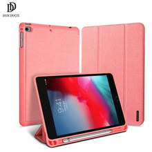Flip Case For Apple iPad Mini 5 2019 PU Leather TPU Protective Stand Smart Auto Sleep/Wake Tablet Cover With Pencil Holder protective flip open pu case w stand auto sleep for 8 asus fonepad 8 fe380cg red