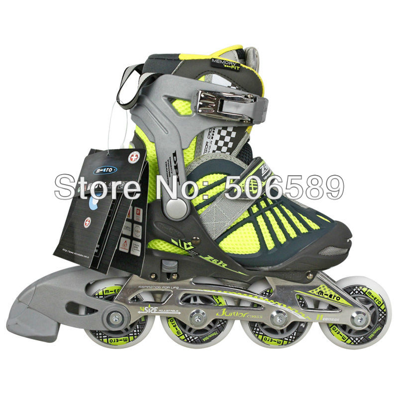 Free Shipping Roller Shoes Kids M-cro Z6 Size Adjustable