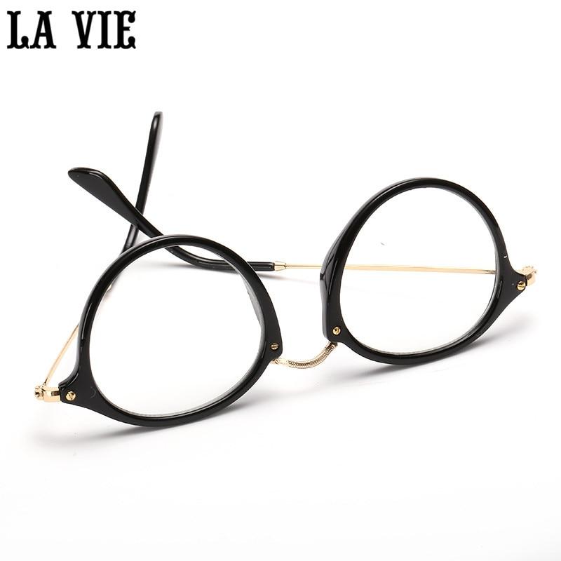 Retro Okrugli Oči Naočale Okvir Legure noge Ultra Light Vintage Miopija naočale Okvir Plain Objektiv oculos de grau femininos