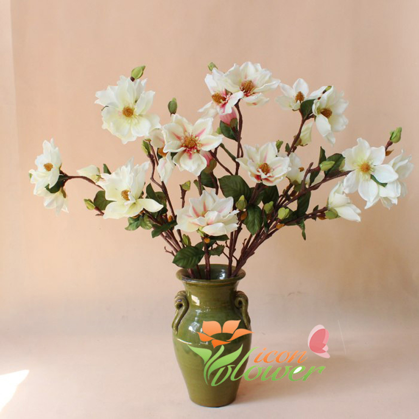 Buy lot yulan magnolia artificial flower for Artificial flowers decoration for home
