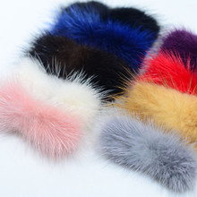 High-grade mink hair Handmade bowknot sheet DIY accessories 3*7cm 4pcs/set