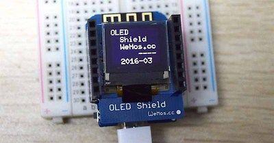 "OLED Shield for WeMos D1 mini 0.66"" inch 64X48 IIC I2C Compatible"
