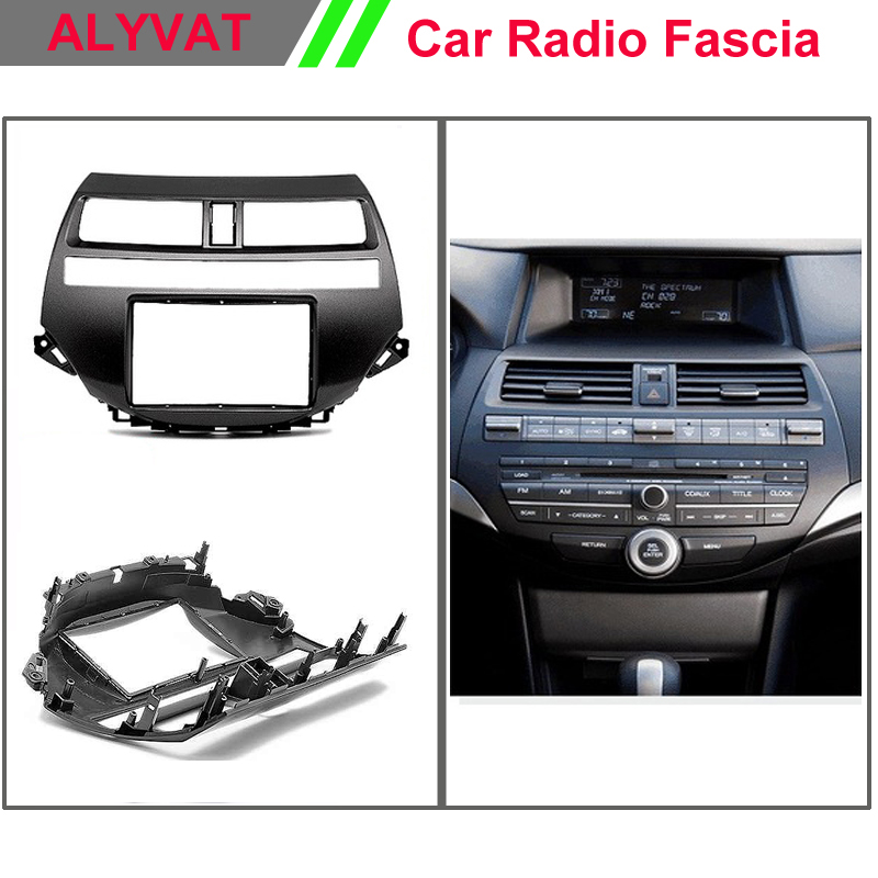 Top Quality Car DVD CD Radio Fascia for HONDA Accord 2008-2012 Crosstour Stereo Facia Dash CD Trim Installation Kit top quality car cd dvd auto frame radio fascia for hyundai i30 fd 2008 2011 stereo fascia dash cd trim installation kit