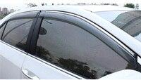 4Pcs/set Car Window Sun Rain Visors Deflector Guard Weather Shield Car Accessories Fit For Toyota Corolla E170 Sedan 2014 2017