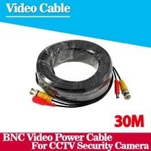 100FT cctv кабель 30 м BNC Видео Мощность коаксиальный Кабель bnc видео выход кабель для cctv Камеры Безопасности