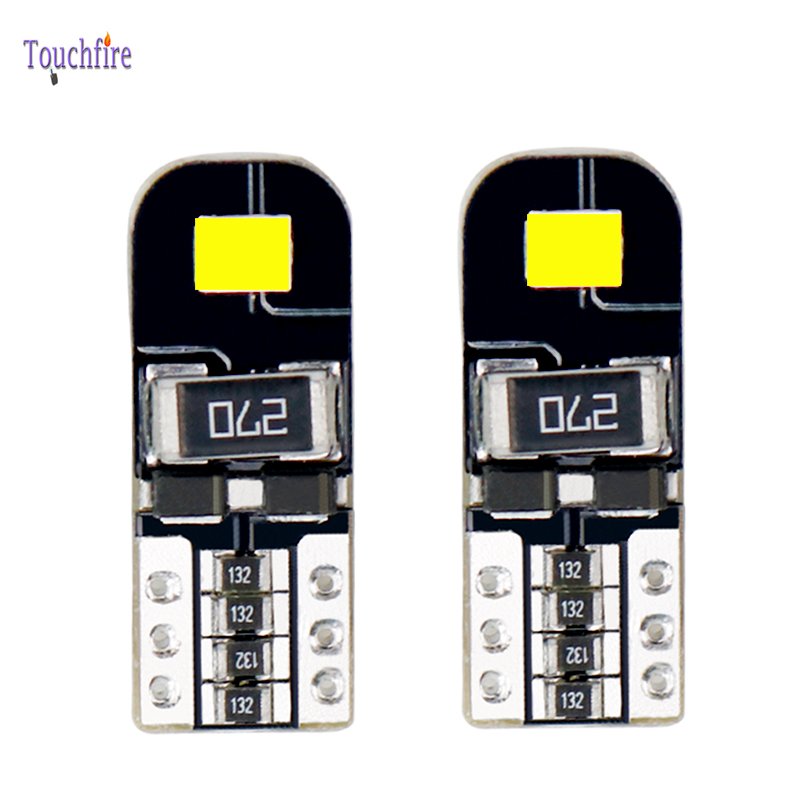 2Pcs T10 W5W <font><b>LED</b></font> Canbus Error Free for <font><b>BMW</b></font> E90 E46 <font><b>E60</b></font> Ford Kia Car Bulb <font><b>Interior</b></font> Reading License plate Dome Light 168 194 12V image