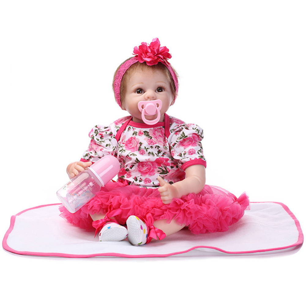MINOCOOL 18 Vinyl Fashion Realistic Toys Simulated Lifelike Reborn Soft Silicone Doll For Girls Baby Alive Newborn Dolls Gift