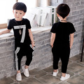 Kids Clothes Summer Children Clothing Sets Short Sleeve Letter Print T-shirt+Pant Kids Tracksuit Toddler Baby Sport Suit 2-7T