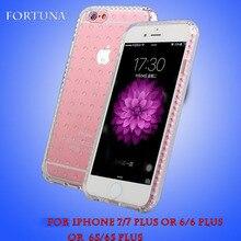 Кристалл Прозрачный Защитный Телефон Case Для iphone 6/6 plus 7/7 плюс Soft Skin case Cover противоударный Shell Для iPhone 7 7 Plus(China (Mainland))