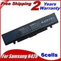 Jigu 6 celdas de batería del ordenador portátil negro para samsung r418 r420 aa-pb9ns6b aa-pb9nc6b np300e np-q470 np300e np-q470 np-300v 300e4a