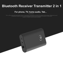 2 in 1 Bluetooth Wireless Transmitter Receiver Audio Receiver Audio Adapter AUX 3.5mm A2DP for Car Stereo Music Earphone TV PC