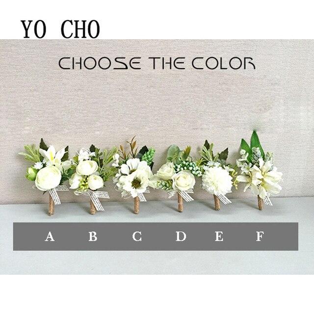 Yo Cho Orchid Artificial Hydrang Wrist Corsage Bracelet Silk Rose Bridesmaid Hand Flowers Diasy Wedding Prom