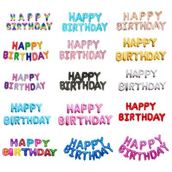 16 cal litery urodzinowe balony z folii dekoracja na przyjęcie z okazji urodzin dla dzieci balony z literami alfabetu przybory dla niemowląt tanie i dobre opinie EACH PARTY Poroża List Folia aluminiowa Birthday Party Ballon 13 sztuk p2581 children