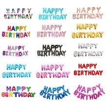 16 pulgadas cartas globos de papel de aluminio para cumpleaños decoración para fiesta de feliz cumpleaños niños globos de aire del alfabeto suministros de baño para bebé