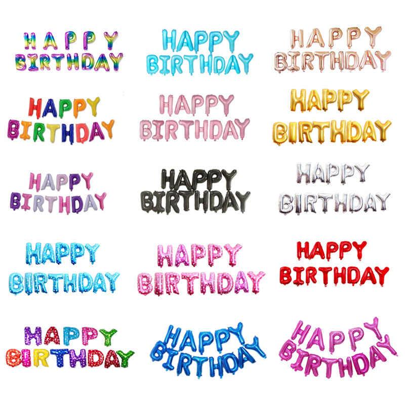 16 дюймов надпись с днем рождения фольга воздушные шары для дня рождения вечерние украшения Дети Алфавит воздушные шарики, День подарков будущей матери поставки