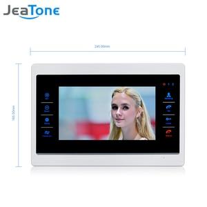 """Image 3 - JeaTone 7"""" Touch Button Video Door Phone Intercom Doorbell Metal frame Indoor Monitor"""