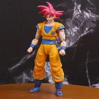 SHF S. H. figuarts Dragon Ball Z Super Saiyan Dios son Goku PVC acción figura juguete modelo coleccionable