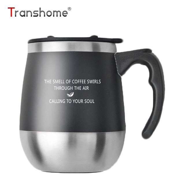 Transhome Belly Coffee Mug With Lid Stainless Steel Thermos Thermocup Bottle Cupugs For