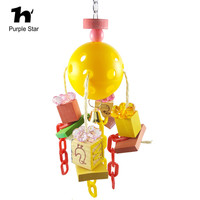 Purple Star Parrot Pet Colorful Wood Letter Chewing Blocks Bite Toy Cage Pendant Decor Macaw Cockatiels