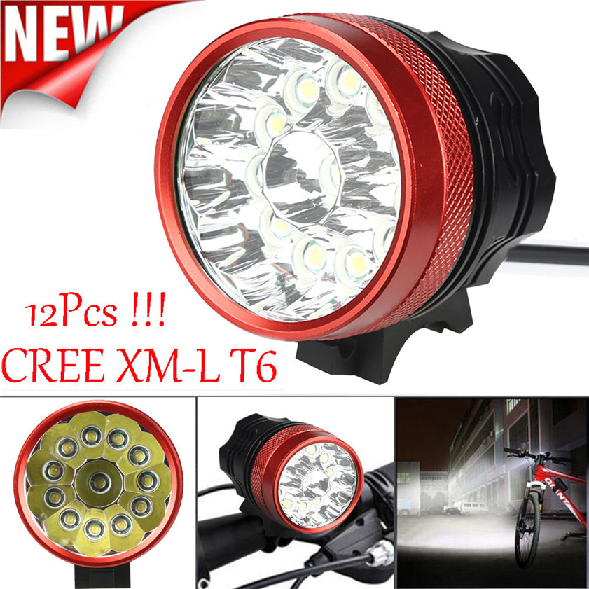 High Quality 30000LM 12 x CREE XM L T6 LED Bicycle Cycling Light Waterproof Lamp