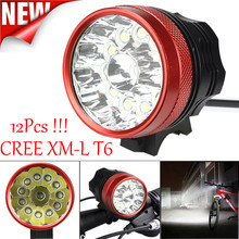 High Quality 30000LM 12 x CREE XM-L T6 LED Bicycle Cycling Light Waterproof Lamp