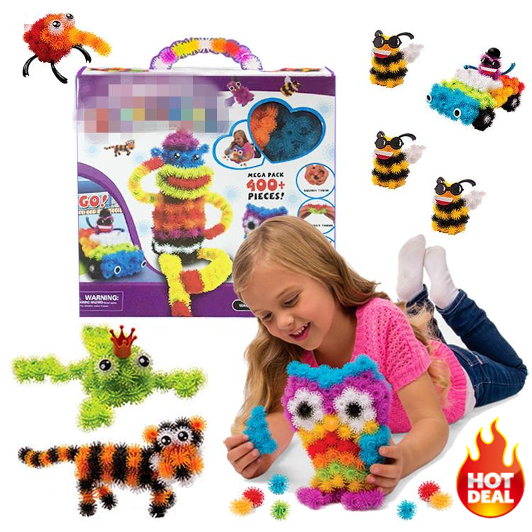 2016 New 400 Pieces Accessories Build Mega Pack Animals DIY Assembling Spot Best Block Toy Sets