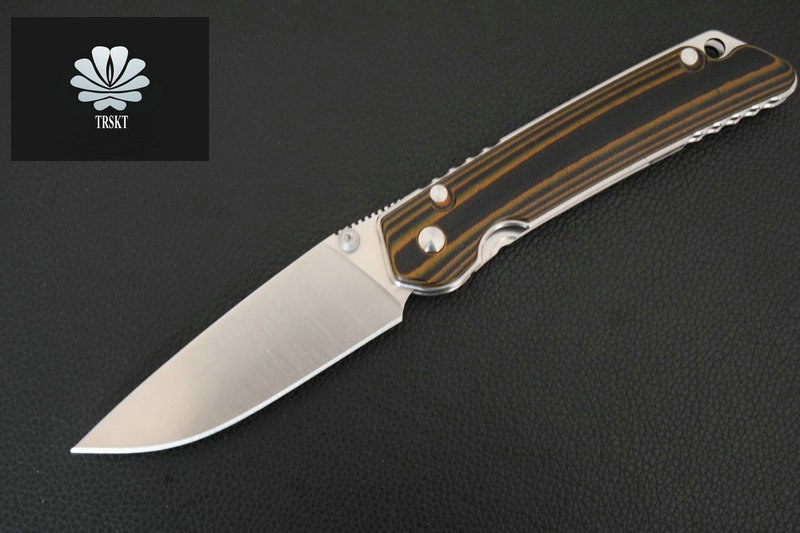TRSKT 110 font b Tactical b font Folding font b Knife b font D2 blade G10